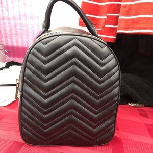 Handbags - Black small faux leather backpack